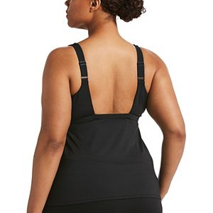 Plus Size Nike Striped Racerback Tankini Top
