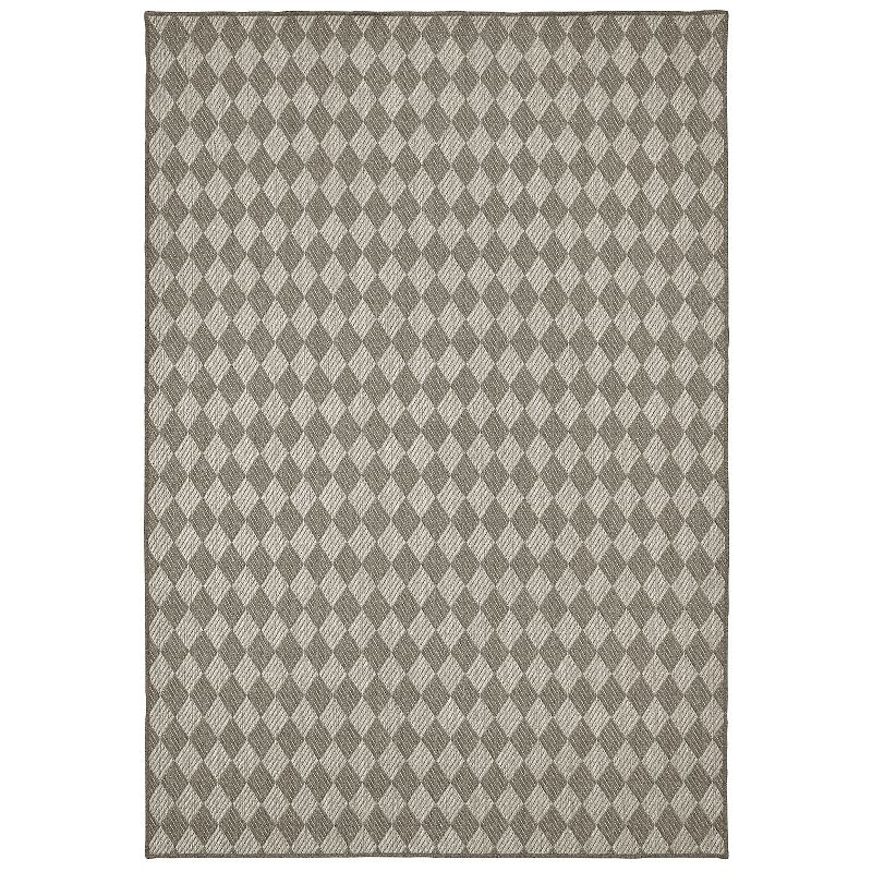 Boucle Check Rug, Grey, 10X13 Ft