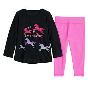 Baby Girl Jumping Beans® Active Swing Top & Leggings Set