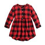 Toddler Girl Jumping Beans® Henley Flannel Dress