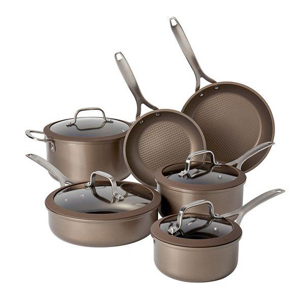 Food Network™ 10-pc. Textured Titanium Nonstick Cookware Set - Bronze