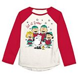 "Toddler Girl Jumping Beans® Peanuts ""Let It Snow"" Graphic Tee"