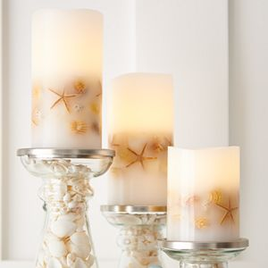 SONOMA Goods for Life LED Shell Pillar Candle