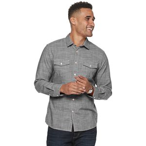 Men's Apt. 9® Regular-Fit Crosshatch Button-Down Shirt