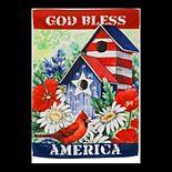 Patriotic Birdhouse Garden Flag