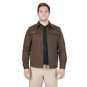 Men's Mountain and Isles Cotton Shirt Jacket With Flannel Lining