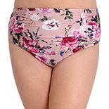 Plus Size LYSA High Waist Floral Bikini Bottoms