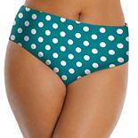 Plus Size LYSA Mid-Rise Floral Bikini Bottoms