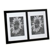 Home Studio 5'' x 7'' Metal Double Frame - Black