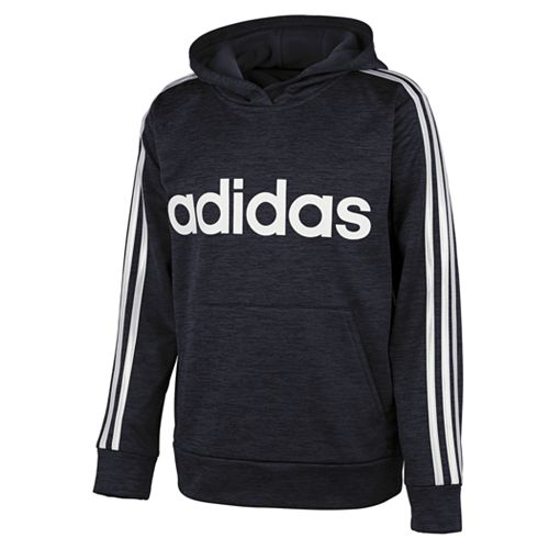Boys 8-20 adidas 3-stripped Hooded Fleece Pullover