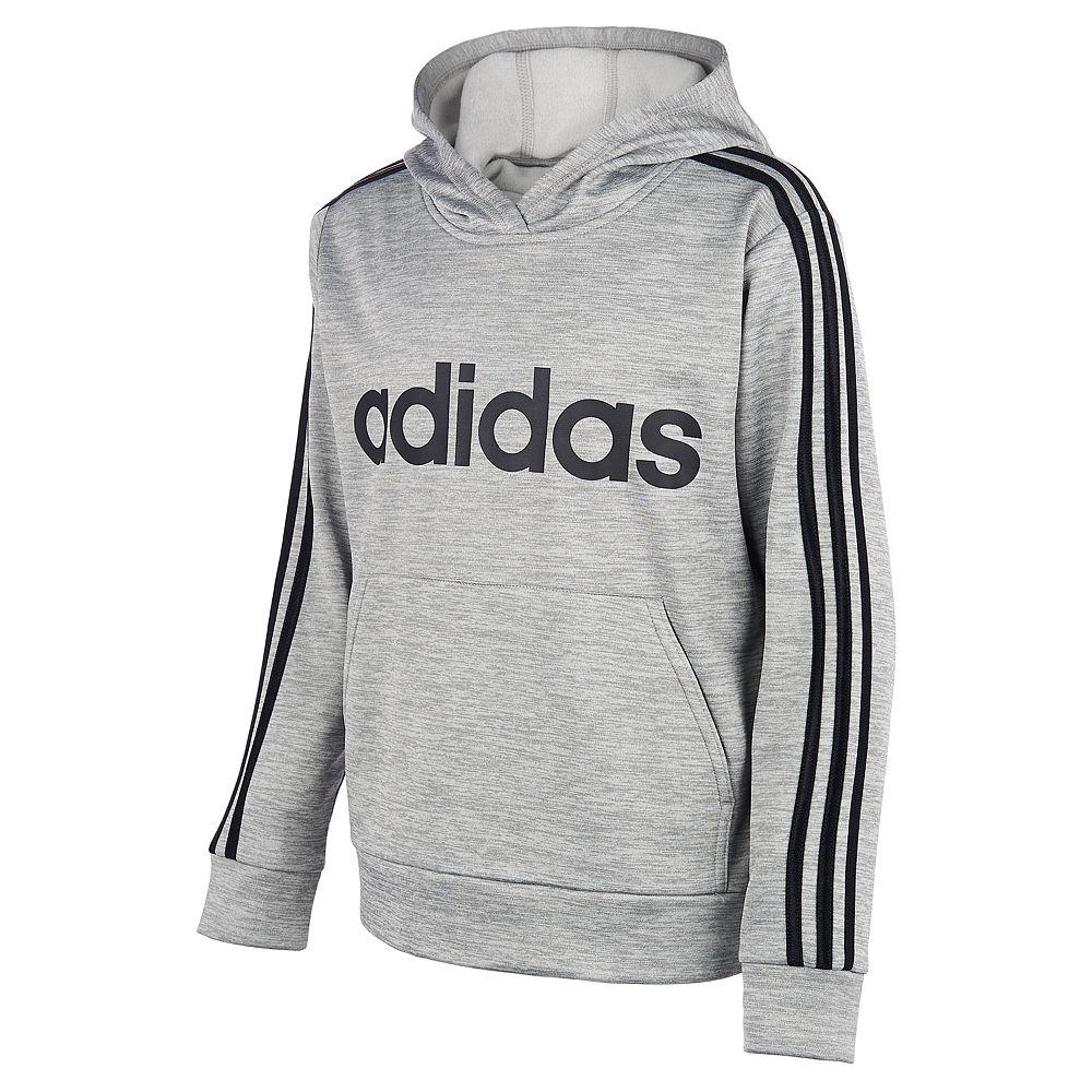 Boys 8-20 adidas 3-stripped Hooded Fleece Pullover