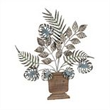 Cape Craftsmen Plant Metal and Wood Wall Decor