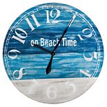 Cape Craftsmen On Beach Time Wooden Wall Clock