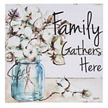 """Cape Craftsmen """"Family Gathers Here"""" LED Wall Decor"""