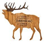 Cape Craftsmen Wooden Elk with Metal Antlers