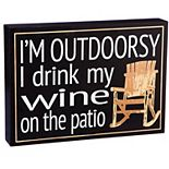 "Cape Craftsmen ""I'm Outdoorsy"" Wooden Plock"