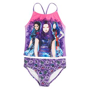 Disney's Descendants Girls 5-8 Tankini and Bottoms Swimsuit Set