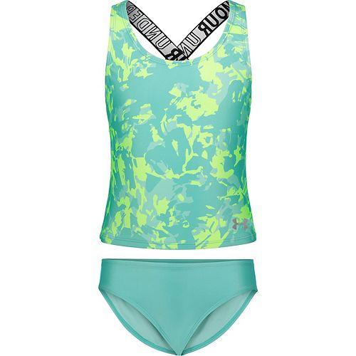 Girls 7-16 Under Armour Azalea Tankini and Bottoms Swimsuit Set