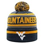 Men's Top of the World West Virginia Mountaineers Buddy Pom Knit Beanie