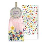 Celebrate Easter Together Happy Easter Tie-Top Kitchen Towel 2-pk.