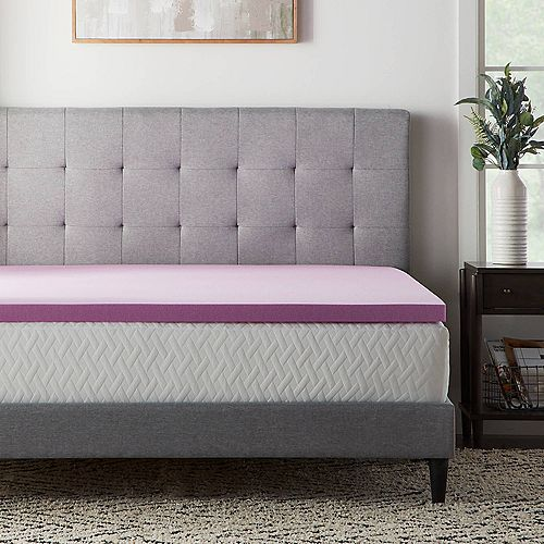 Lucid Dream Collection 2 In Lavender Mattress Topper
