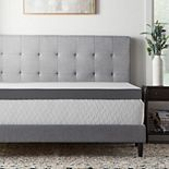 Lucid Dream Collection 4-in. Charcoal Memory Foam Mattress Topper