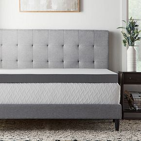 Lucid Dream Collection 4-in. Bamboo Charcoal Mattress Topper