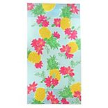 Celebrate Spring Together Tropical Floral Beach Towel