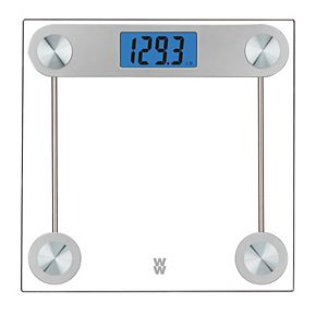 Weight Watchers Scales by Conair Digital Glass Scale with Blue Backlight Display