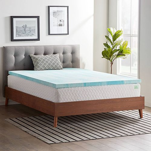 Lucid Dream Collection 2 In Gel Swirl Memory Foam Mattress Topper