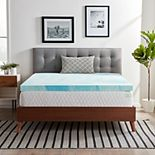 Lucid Dream Collection 3-in. Gel Swirl Memory Foam Mattress Topper