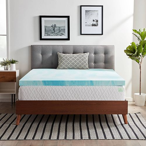 Lucid Dream Collection 3 In Gel Swirl Memory Foam Mattress Topper
