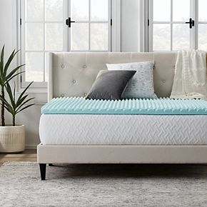 Lucid Dream Collection 2-in. Convoluted Gel Swirl Mattress Topper
