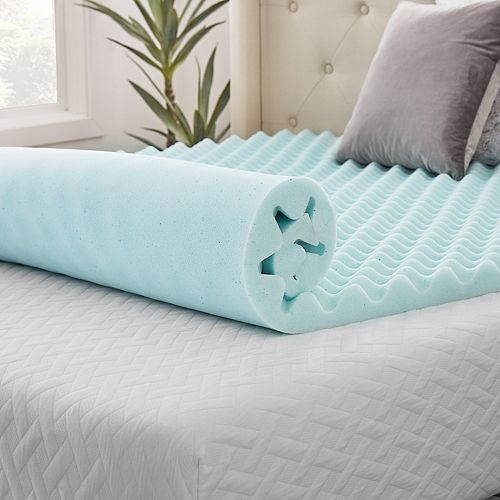 Lucid Dream Collection 3 In Convoluted Gel Swirl Mattress Topper
