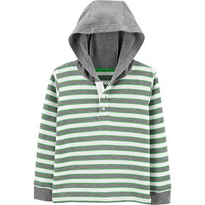 Boys 4-14 Carter's Striped Thermal Hooded Top