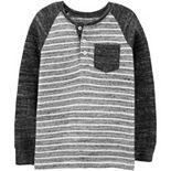 Boys 4-14 OshKosh B'gosh® Striped Henley Pocket Tee