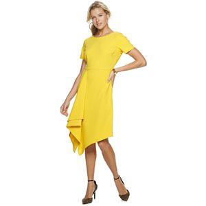 Women's Sharagano Draped-Hem Sheath Dress