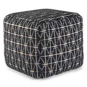 Simpli Home Blythe Transitional Cube Pouf