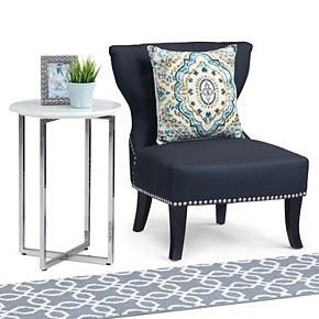 Simpli Home Marsden Contemporary Metal Accent Side Table