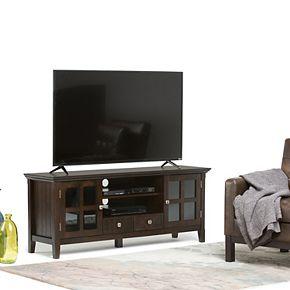 Simpli Home Acadian Rustic TV Media Stand
