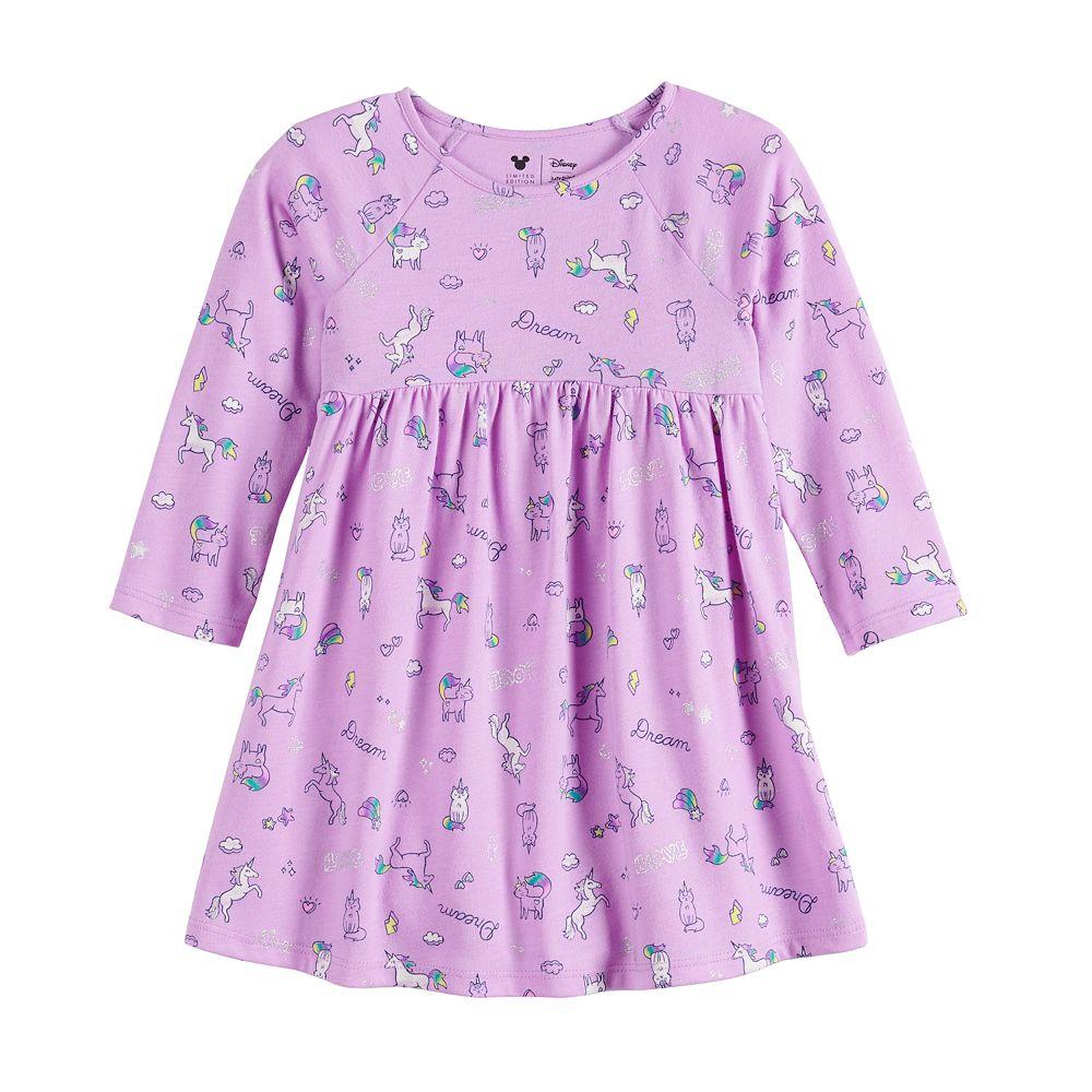 Baby Girl Jumping Beans® Curved Seam Raglan Sleeve Dress