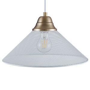 Southern Enterprises Bachman White Downlight Mini Pendant Lamp
