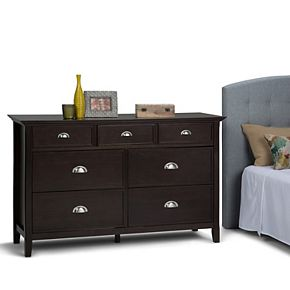 Simpli Home Acadian Rustic Bedroom Dresser