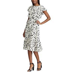 Women's Chaps Floral Fit & Flare Midi Dress
