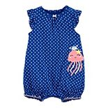 Baby Girl Carter's Jellyfish Snap-Up Romper