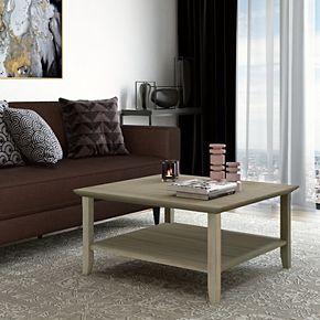 Simpli Home Acadian Square Rustic Coffee Table