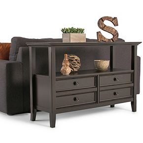Simpli Home Amherst Transitional Console Sofa Table