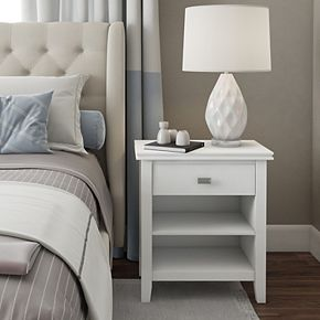 Simpli Home Artisan Contemporary Bedside Nightstand Table