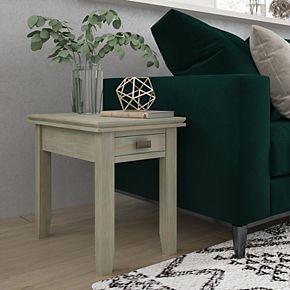 Simpli Home Artisan Rectangle Contemporary Narrow End Side Table