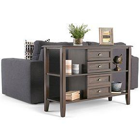 Simpli Home Burlington Traditional Console Sofa Table